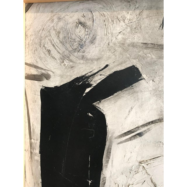 1960s Abstract Black and White Painting by Graham Harmon For Sale In Los Angeles - Image 6 of 9