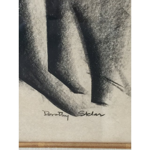 Framed Cubist Charcoal Painting - Image 6 of 6