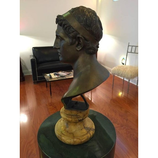 1906 Cesar Sab De Angelis Fils Naples Bronze Bust For Sale - Image 10 of 10