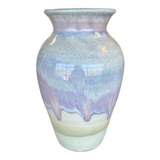 1970s Pastel Drip Glaze Vase For Sale