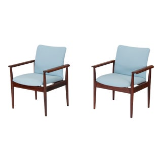 1960s Vintage Finn Juhl Diplomat Armchairs in Rosewood - a Pair For Sale