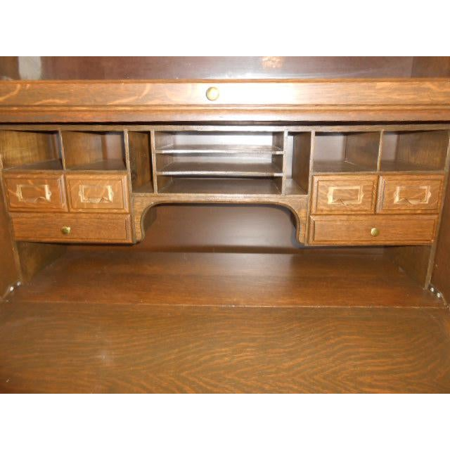 Glass 1900s Traditional Gunn Barrister Secretary Bookcase For Sale - Image 7 of 11