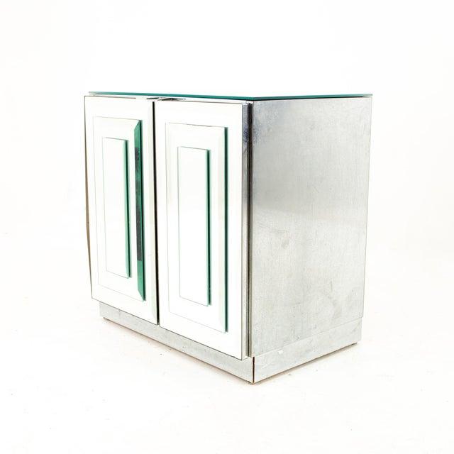 "Ello Mirrored Mid Century ""Skyscraper"" Nightstand - Pair For Sale In Chicago - Image 6 of 13"