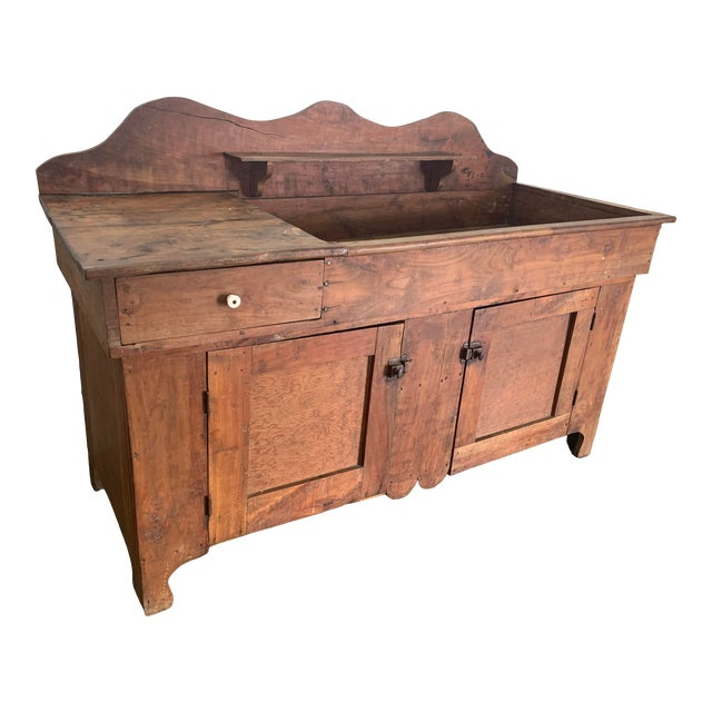 Antique Rustic Farmhouse Dry Sink For Sale