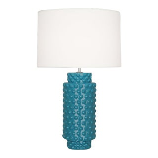 Robert Abbey Dolly Lamps in Peacock - 2 Are Available For Sale