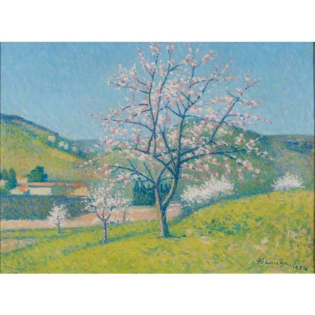 Early 20th Century Arbres en Fleur à Alet-les-Bains (Flowering Trees in Alet-les-Bains) For Sale - Image 5 of 6