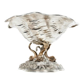 Large Antique Sterling Silver Centerpiece For Sale