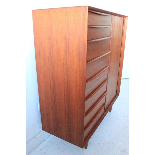 Vintage Falster Mid-Century Modern Teak Highboy Dresser - Image 4 of 9