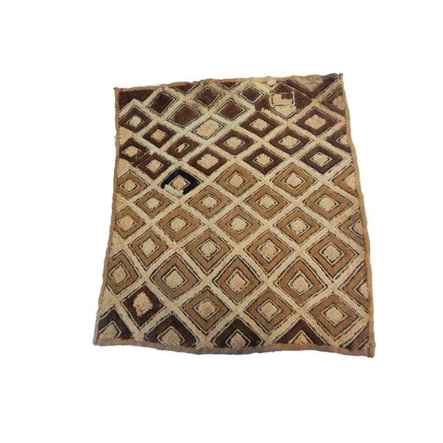 African African Kuba Kasai Velvet Raffia Textile Zaire For Sale - Image 3 of 10