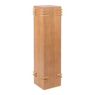 Frank Pedestal in Natural Oak For Sale