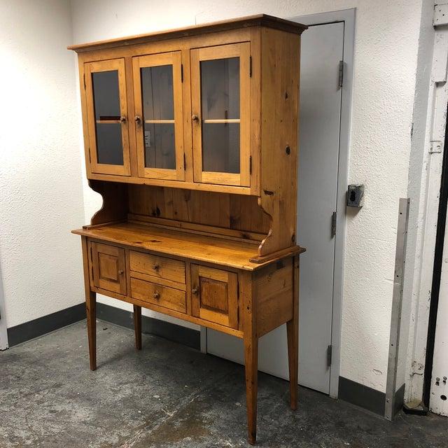 Rustic Borkholder Vintage Amish Crafted Sideboard + Hutch For Sale - Image 3 of 10