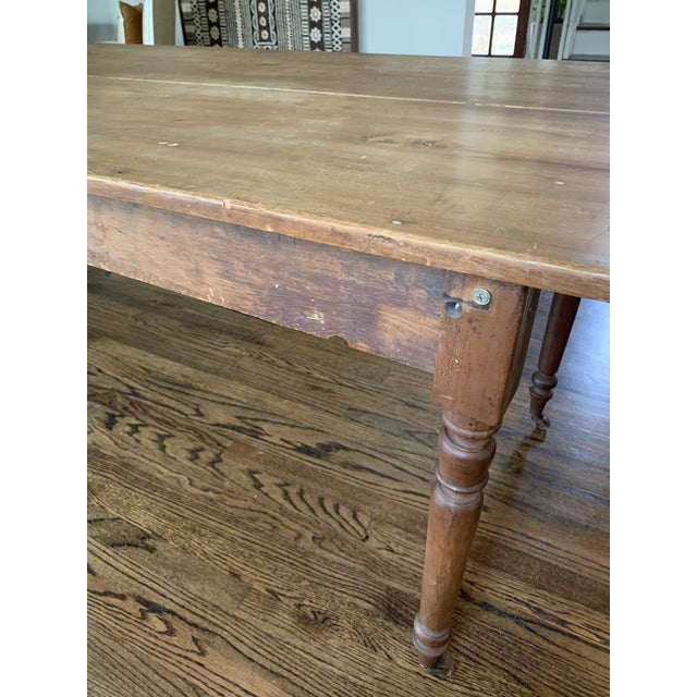 Brown 20th Century Farmhouse Dining Table For Sale - Image 8 of 11