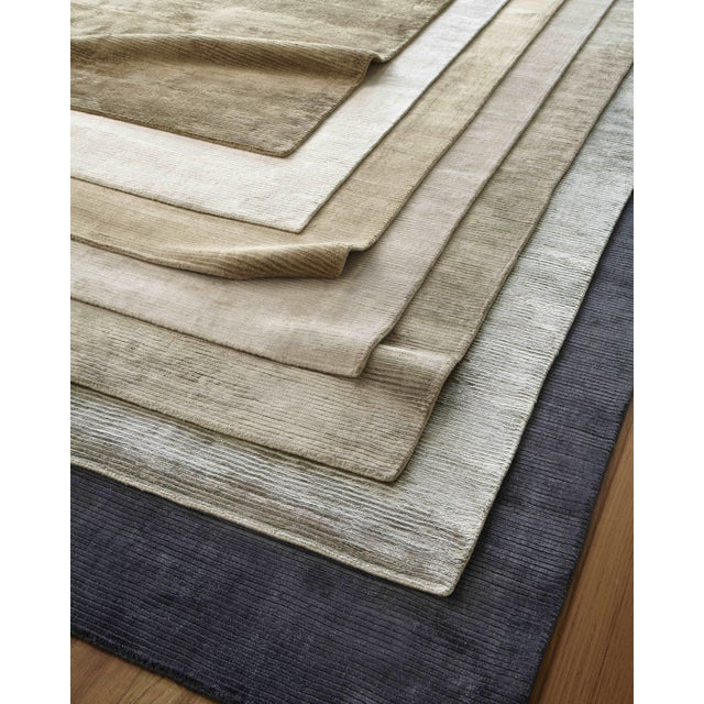 Brown Exquisite Rugs Ives Hand loom Viscose Brown Rug-14'x18' For Sale - Image 8 of 10