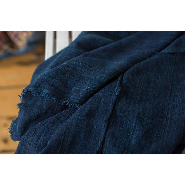 "Dark Blue Denim Indigo Throw - 3'6"" X 5' - Image 4 of 4"