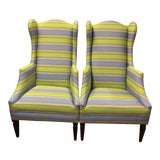 """Image of """"Bee"""" Wing Chairs - a Pair For Sale"""