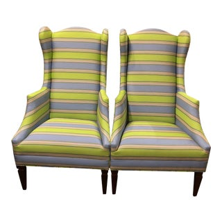 """Bee"" Wing Chairs - a Pair For Sale"