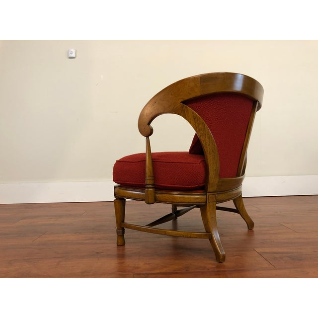 Red Tomlinson Sophisticate Vintage Occasional Chair For Sale - Image 8 of 13