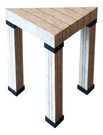 Image of Travertine Side Tables