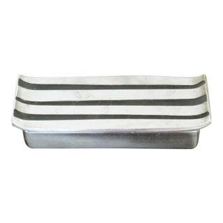Mid Century Modern Seibel Jenfred Ware Keepsake Double Cigarette Silver Box 50s For Sale