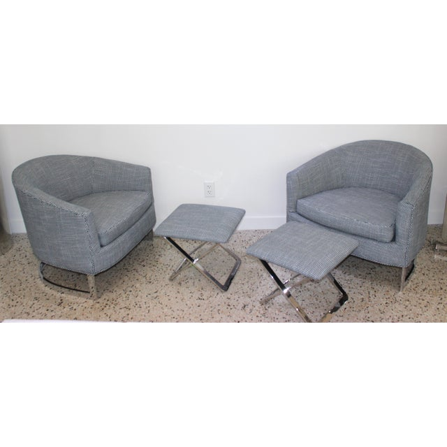 Mid-Century Modern Milo Baughman for Thayer Coggin Chairs - a Pair For Sale - Image 12 of 13