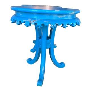 Turquoise Fleur De Lis Table