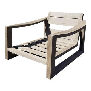 Restoration Hardware Sebastian Teak Lounge Chair For Sale