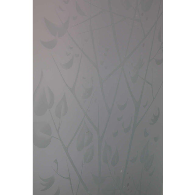 Four-Panel Etched Glass Screen For Sale In New York - Image 6 of 9