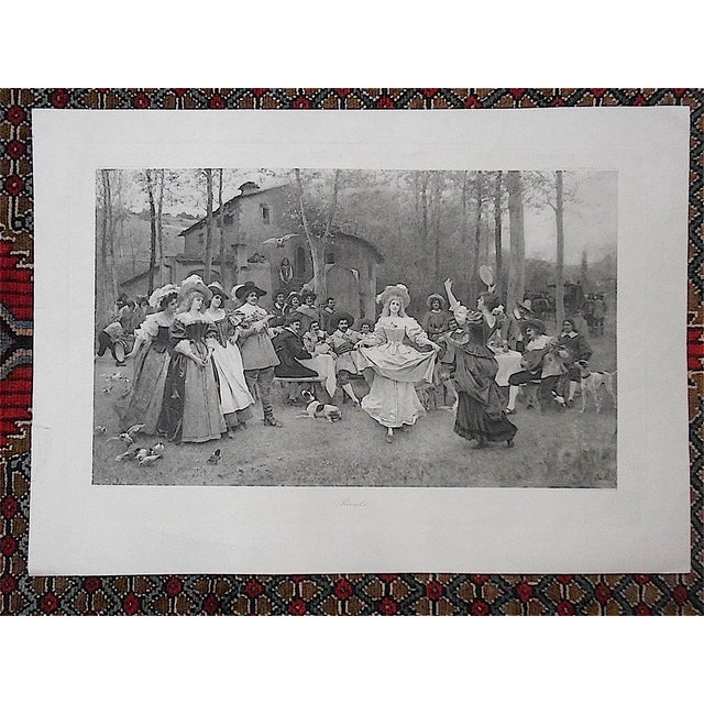 """Traditional Antique Lithograph """"Rivals"""" For Sale - Image 3 of 4"""