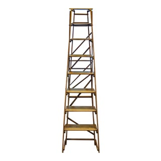 Late 19th Century Antique Folding Ladder For Sale