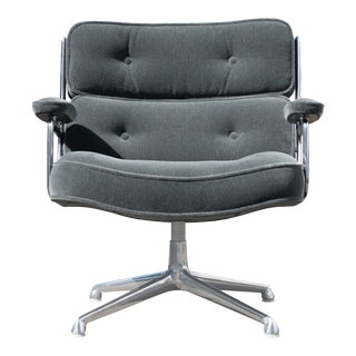 "Eames Time Life ""Lobby"" Lounge Chair in Mohair by Charles & Ray Eames for Herman Miller For Sale"
