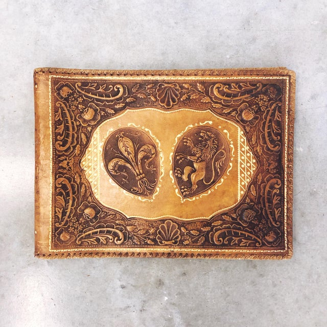 Antique Tooled Leather Memory Book For Sale - Image 10 of 10