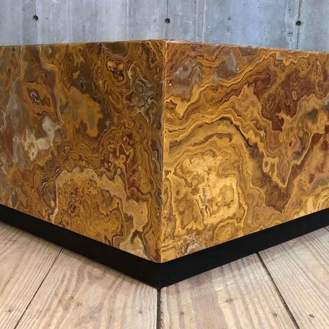 Mid Century Specimen Agate Coffee Table For Sale - Image 4 of 6