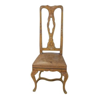 Late 19th Century Antique French Painted Side Chair For Sale