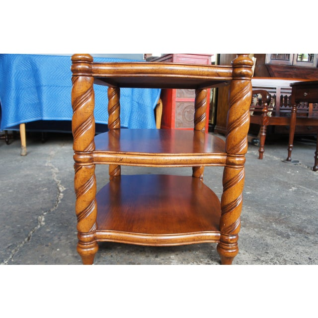 Traditional Thomasville British Gentry 3 Tier Side Table For Sale - Image 10 of 13