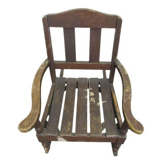 Miniature Wooden Rocking Chair For Sale