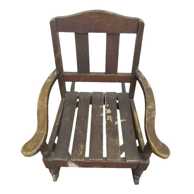 Miniature Wooden Rocking Chair - Image 1 of 8