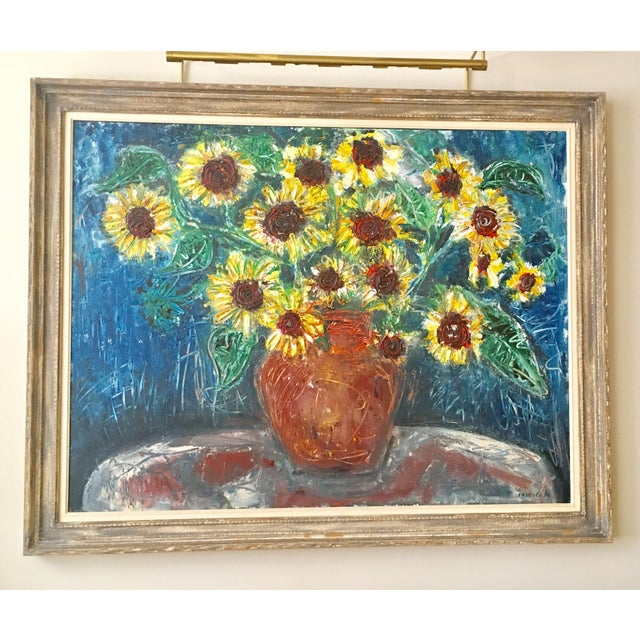 "Large ""Sunflower"" Painting by Trieste - Image 2 of 6"