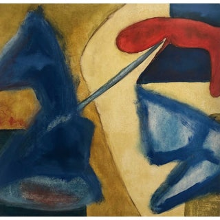 Abstract 1950s Richard Goodwin Painting For Sale