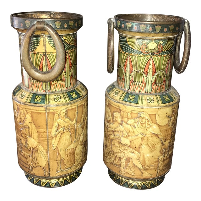 Huntley and Palmers Decorative Biscuit Tins - a Pair For Sale