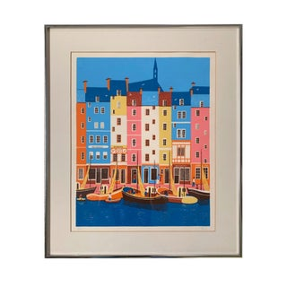 Francois 'Fanch' Ledan Canal Row Print For Sale