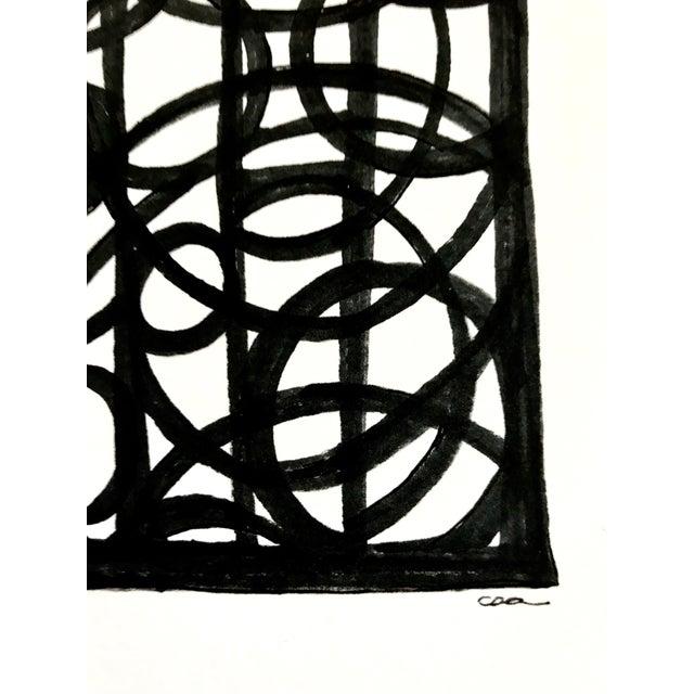 """Lineworks I"" Original Mixed Media Painting - Image 4 of 6"