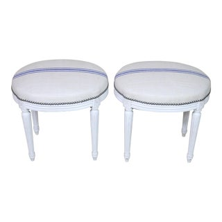 Early 20th Century Louis XVI Style Stools- A Pair For Sale