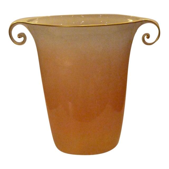 Large Sculptural Mangani Porcelain Vase For Sale