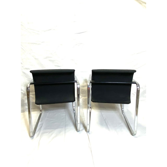 Black Marvelous Peter Protzman for Herman Miller Chrome Black Fabric Chairs - a Pair For Sale - Image 8 of 13