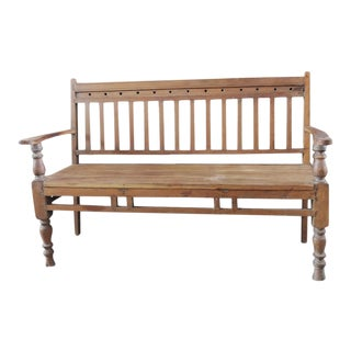 Slatted Colonial Bench