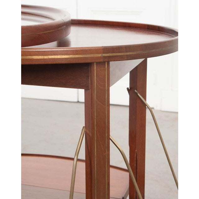 French Early 20th Century Oval Mahogany Tea Table For Sale - Image 9 of 13