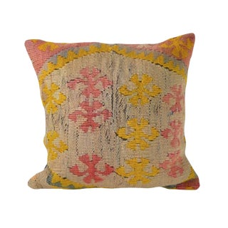 Early 20th Century Vintage Turkish Kilim Pillow For Sale