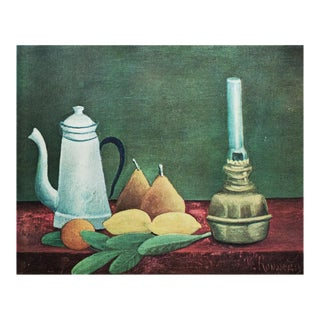 "1951 Henri Rousseau ""Still Life With Lemons and Pears"", First Edition Parisian Lithograph For Sale"