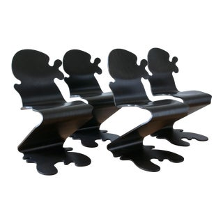 """""""Pantonic 5010"""" Chairs by Verner Panton for Studio Hag - Set of 4 For Sale"""
