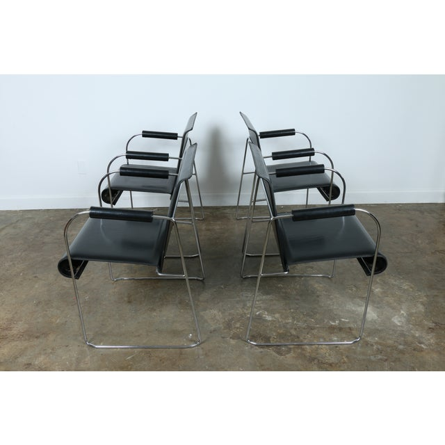 Arrben Italy Arm Chairs - Set of 4 - Image 8 of 11